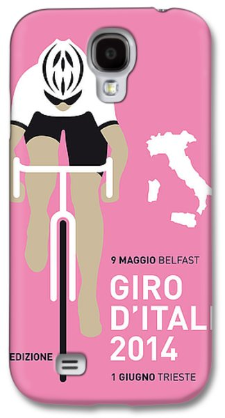 Bicycle Galaxy S4 Case - My Giro D Italia Minimal Poster 2014 by Chungkong Art