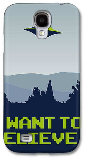 My I Want To Believe Minimal Poster Galaxy S4 Case by Chungkong Art