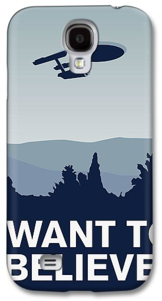 My I Want To Believe Minimal Poster-enterprice Galaxy S4 Case by Chungkong Art