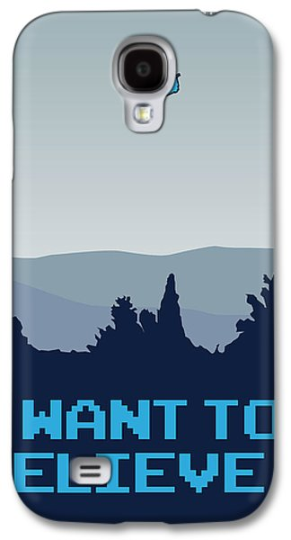 My I Want To Believe Minimal Poster- Tardis Galaxy S4 Case