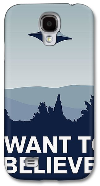 My I Want To Believe Minimal Poster-xfiles Galaxy S4 Case by Chungkong Art