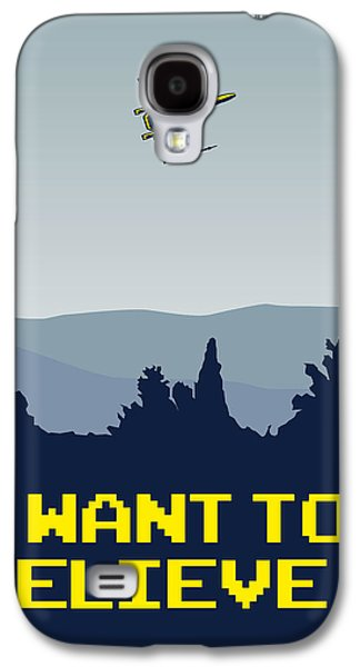 My I Want To Believe Minimal Poster- Xwing Galaxy S4 Case by Chungkong Art