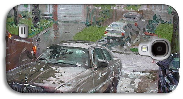 Town Galaxy S4 Case - My Lincoln In The Rain by Ylli Haruni