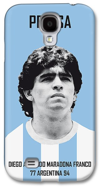 My Maradona Soccer Legend Poster Galaxy S4 Case by Chungkong Art