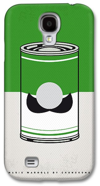 Vegetables Galaxy S4 Case - My Mario Warhols Minimal Can Poster-luigi by Chungkong Art