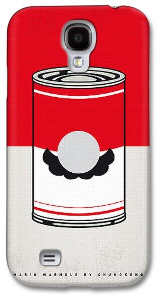 My Mario Warhols Minimal Can Poster-mario Galaxy S4 Case by Chungkong Art