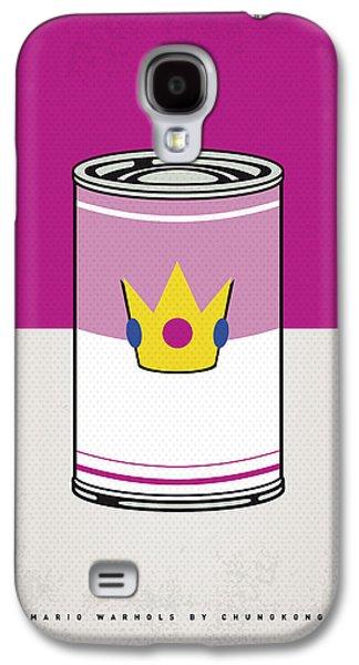 My Mario Warhols Minimal Can Poster-peach Galaxy S4 Case by Chungkong Art