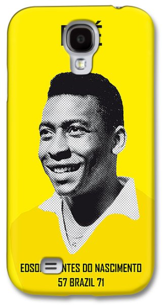 My Pele Soccer Legend Poster Galaxy S4 Case by Chungkong Art