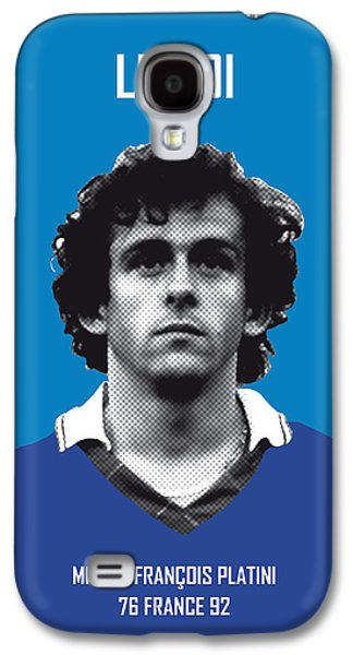 My Platini Soccer Legend Poster Galaxy S4 Case by Chungkong Art