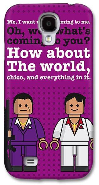 My Scarface Lego Dialogue Poster Galaxy S4 Case