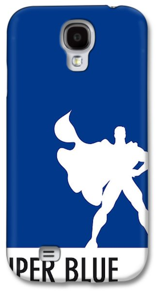 My Superhero 03 Super Blue Minimal Poster Galaxy S4 Case by Chungkong Art