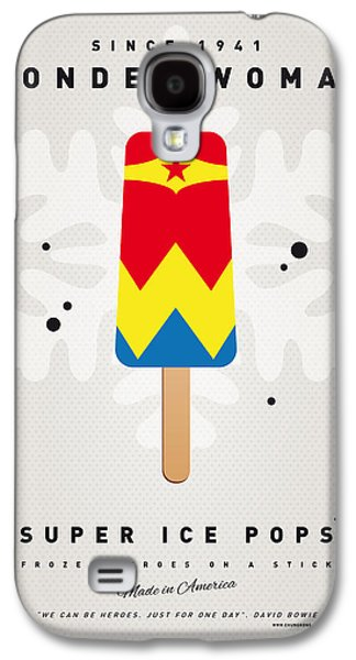 My Superhero Ice Pop - Wonder Woman Galaxy S4 Case by Chungkong Art