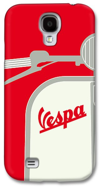 My Vespa - From Italy With Love - Red Galaxy S4 Case by Chungkong Art