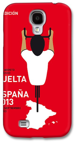 Bicycle Galaxy S4 Case - My Vuelta A Espana Minimal Poster - 2013 by Chungkong Art