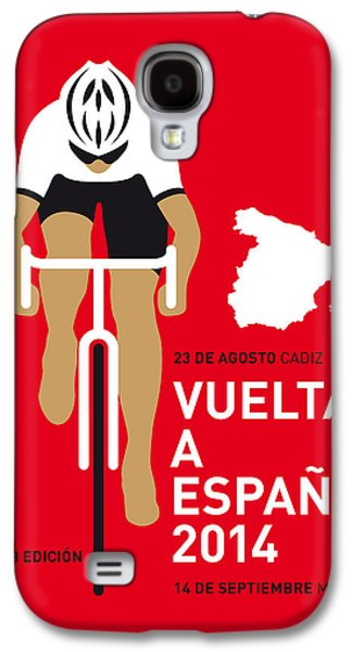 Bicycle Galaxy S4 Case - My Vuelta A Espana Minimal Poster 2014 by Chungkong Art