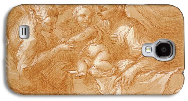 Mystic Marriage Of Saint Catherine Bartolomeo Biscaino Galaxy S4 Case by Litz Collection
