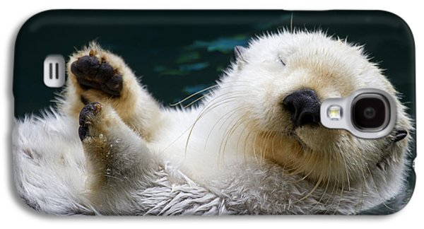 Otter Galaxy S4 Case - Napping On The Water by Mike  Dawson