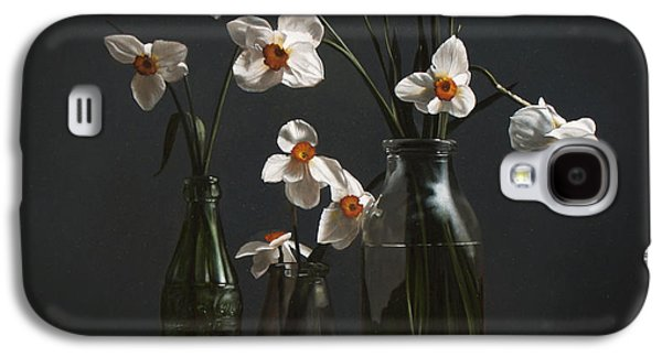 Narcissus And Bottles Galaxy S4 Case by Larry Preston