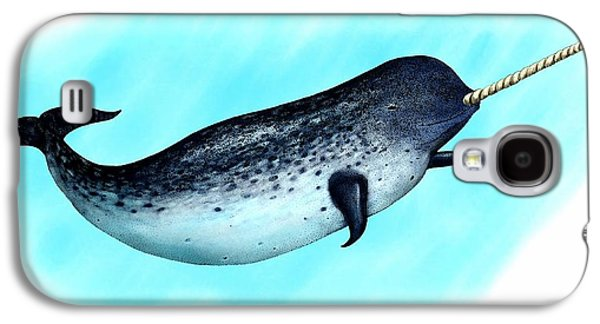 Narwhal Whale Galaxy S4 Case by Roger Hall