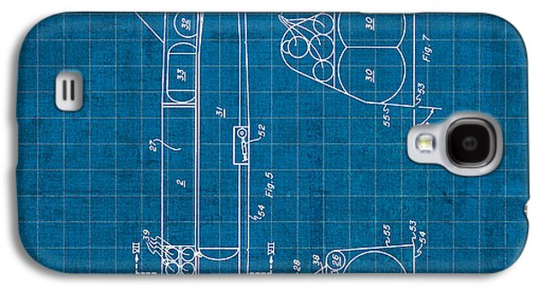 Nasa Space Shuttle Vintage Patent Diagram Blueprint Galaxy S4 Case by Design Turnpike