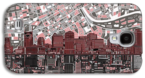 Nashville Skyline Abstract 3 Galaxy S4 Case