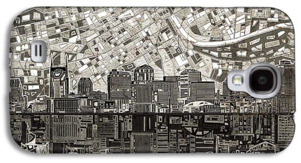 Nashville Skyline Abstract 5 Galaxy S4 Case