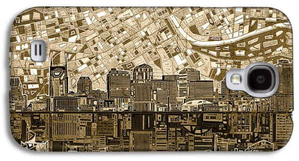 Nashville Skyline Abstract 6 Galaxy S4 Case