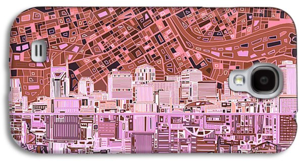 Nashville Skyline Abstract 7 Galaxy S4 Case