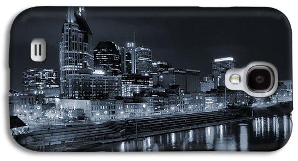 Nashville Skyline Galaxy S4 Case - Nashville Skyline At Night by Dan Sproul
