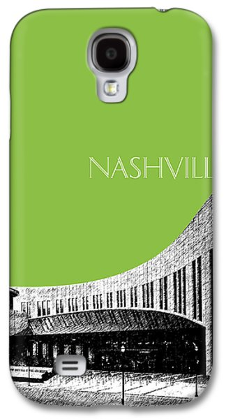 Nashville Skyline Country Music Hall Of Fame - Olive Galaxy S4 Case by DB Artist
