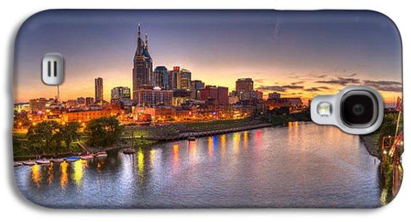 Nashville Skyline Panorama Galaxy S4 Case by Brett Engle