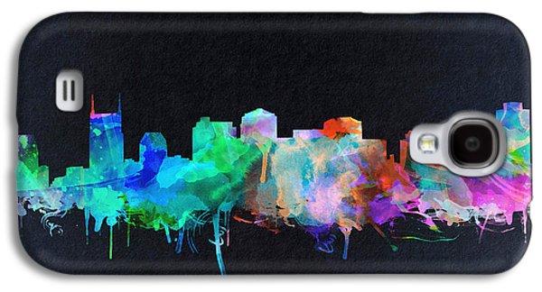 Nashville Skyline Watercolor 10 Galaxy S4 Case