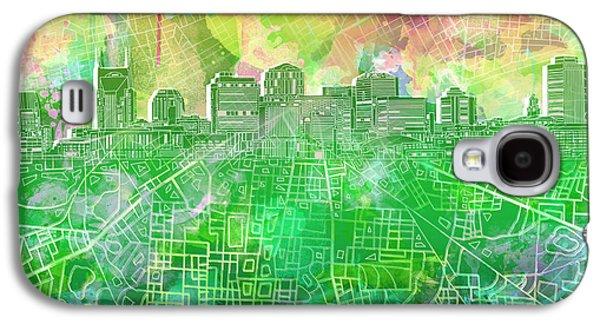 Nashville Skyline Watercolor 2 Galaxy S4 Case
