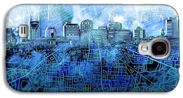 Nashville Skyline Watercolor 3 Galaxy S4 Case
