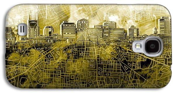 Nashville Skyline Watercolor 4 Galaxy S4 Case