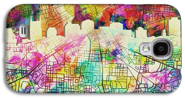 Nashville Skyline Watercolor 7 Galaxy S4 Case