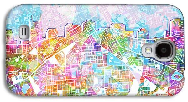 Nashville Skyline Watercolor 8 Galaxy S4 Case