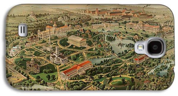 Nashville Tennessee Centennial Exposition Map 1897 Galaxy S4 Case by Mountain Dreams