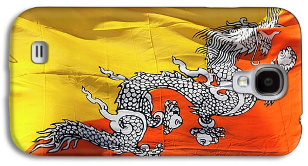 National Flag Of Bhutan Galaxy S4 Case by Peter Adams