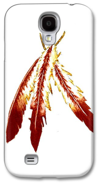 Native American Feathers  Galaxy S4 Case by Michael Vigliotti