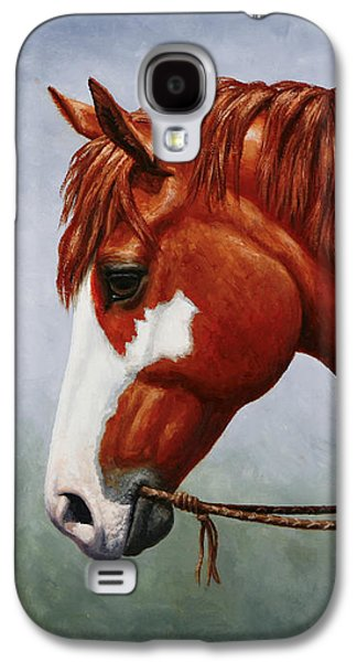 Native American Pinto Horse Galaxy S4 Case by Crista Forest