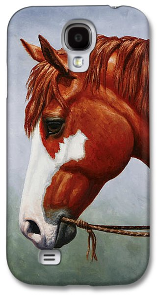 Native American Pinto Horse Galaxy S4 Case