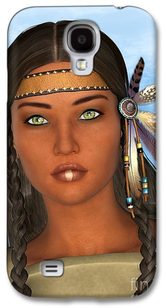 Native American Woman Galaxy S4 Case