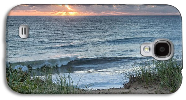 Nauset Light Beach Sunrise Square Galaxy S4 Case by Bill Wakeley
