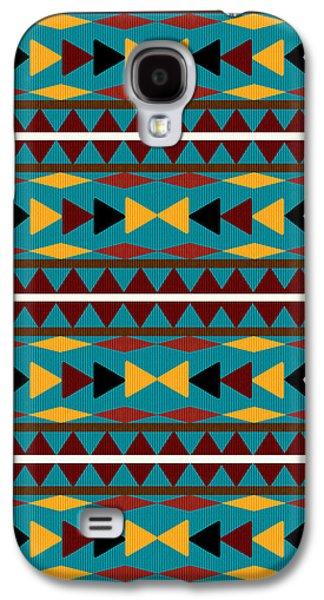 Navajo Teal Pattern Galaxy S4 Case