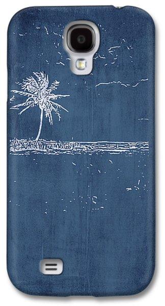Navy Beach Palm I Galaxy S4 Case