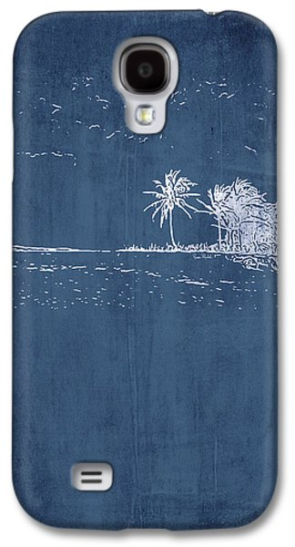 Navy Beach Palm II Galaxy S4 Case