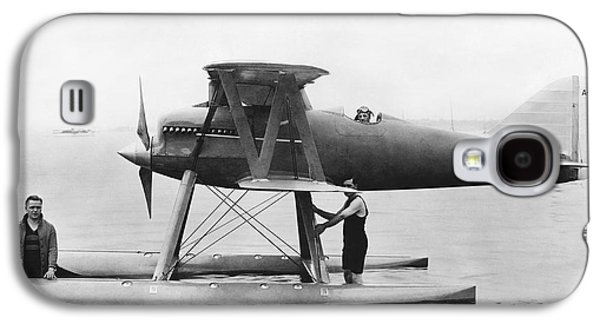 Navy Curtis Seaplane Racer Galaxy S4 Case by Underwood Archives