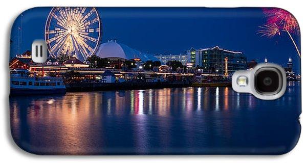 Navy Pier Fireworks Chicago I L Galaxy S4 Case by Steve Gadomski