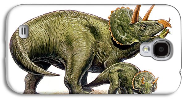 Feeding Young Galaxy S4 Case - Nedoceratops Dinosaurs by Deagostini/uig